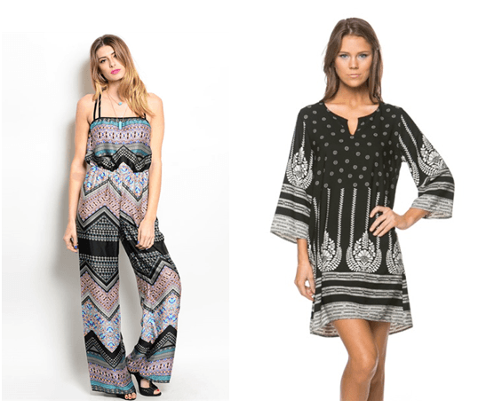 Boho chic dresses - revival of the 60s and 70s fashion trends
