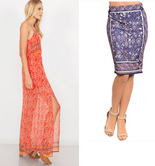 women's maxi dress and skirt