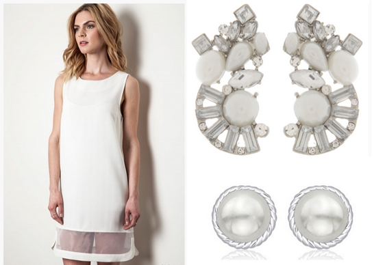 Classic jewellery goes best with white dress