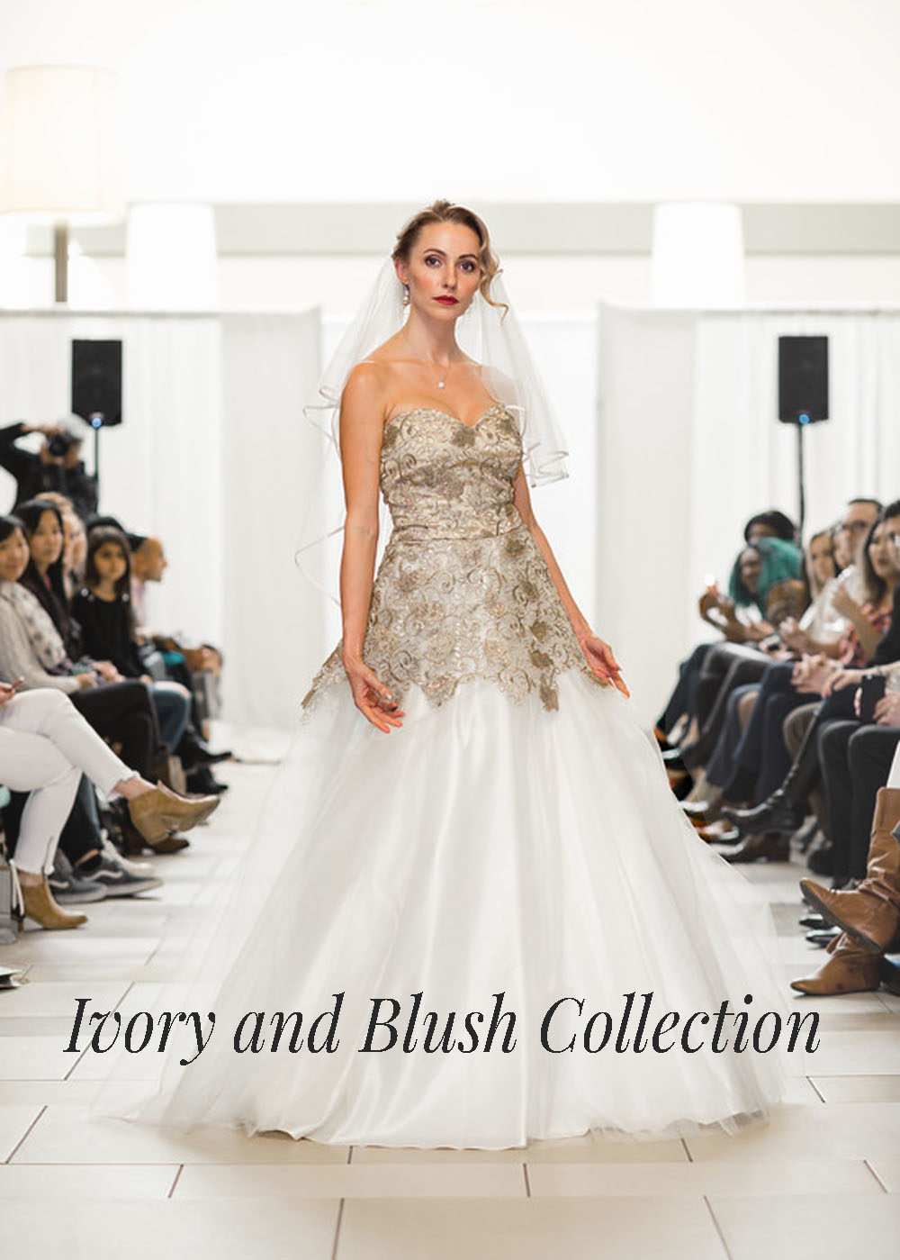 Ivory and gold designer gown bellevue seattle fashion
