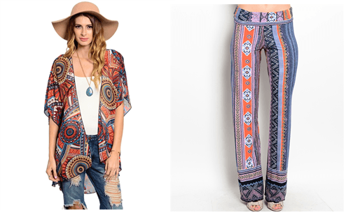 trend with the Bohemian look of the season