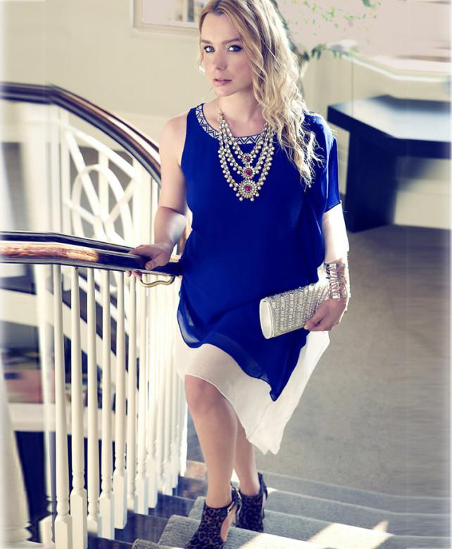custom designer chiffon dress