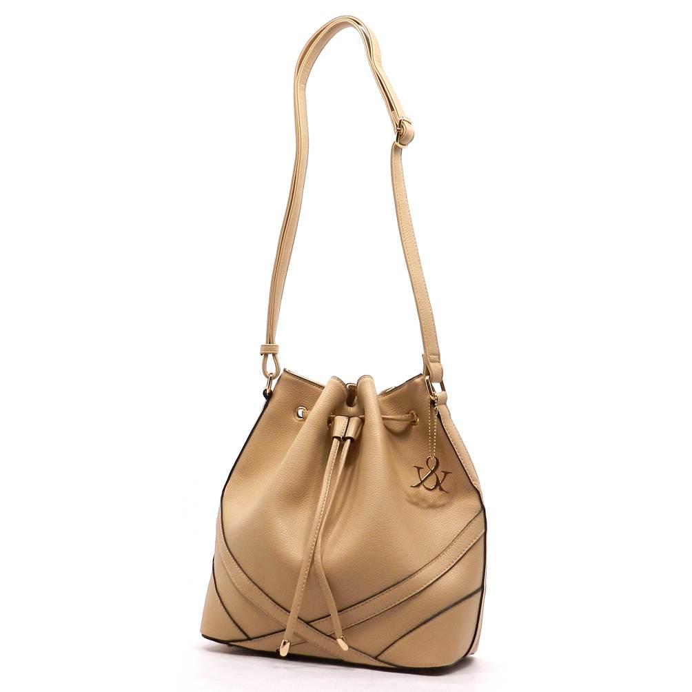 Buy Designer Tan Bucket Bag For Women Online - Kahini Kreative