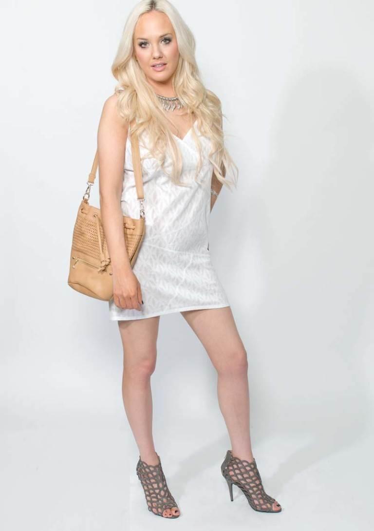 white cotton summer dress