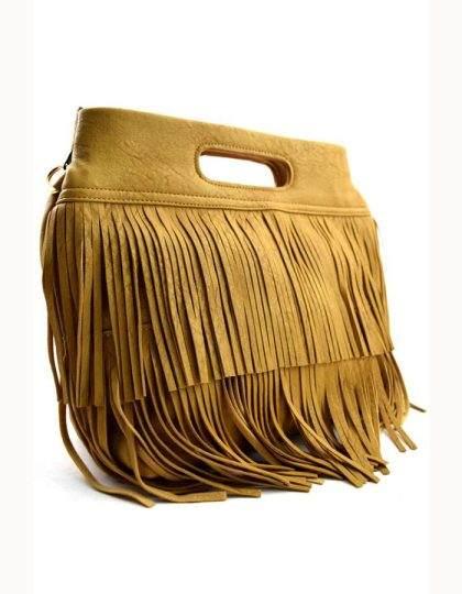 trendy fringe bag