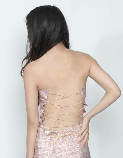 sexy backless party top