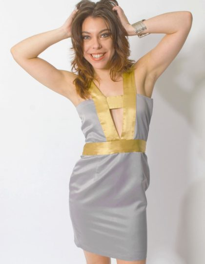 grey sexy party dress