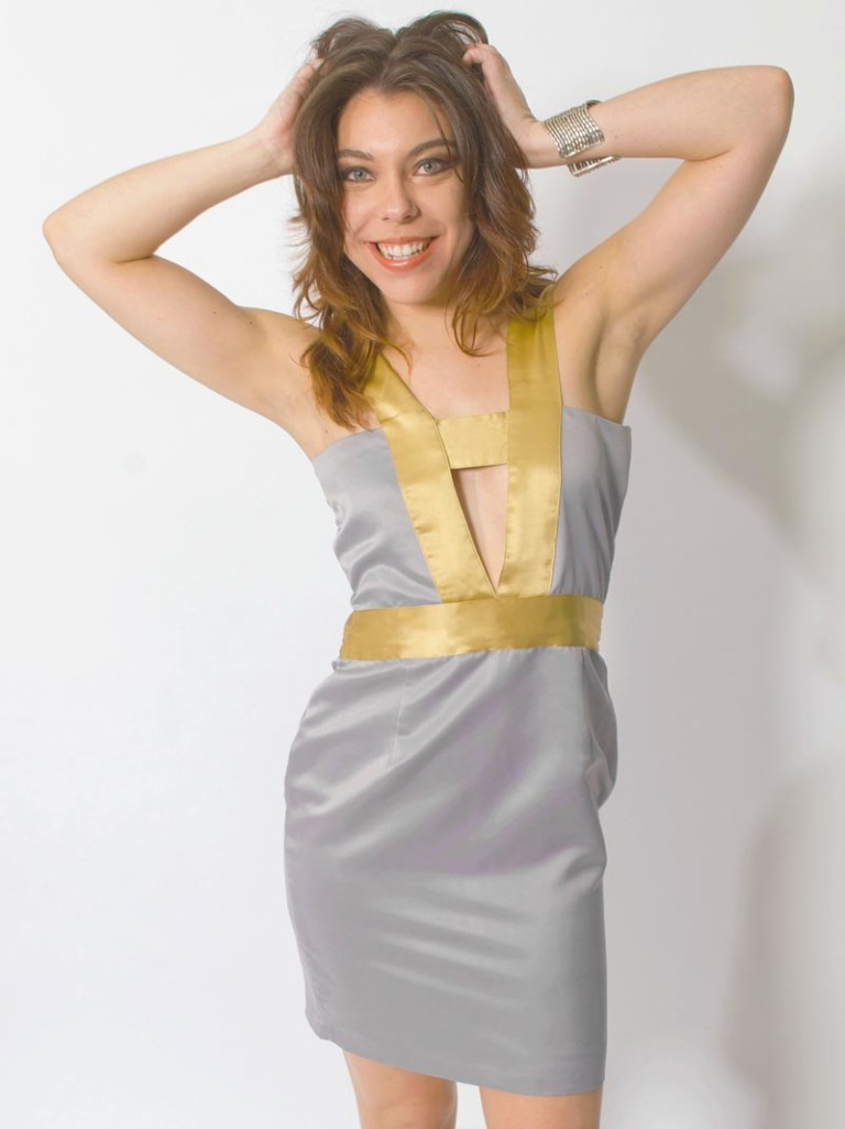 grey sexy party dress