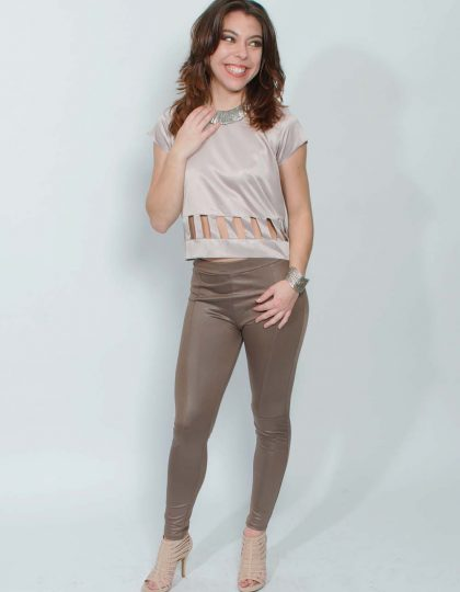 mauve trendy silk top