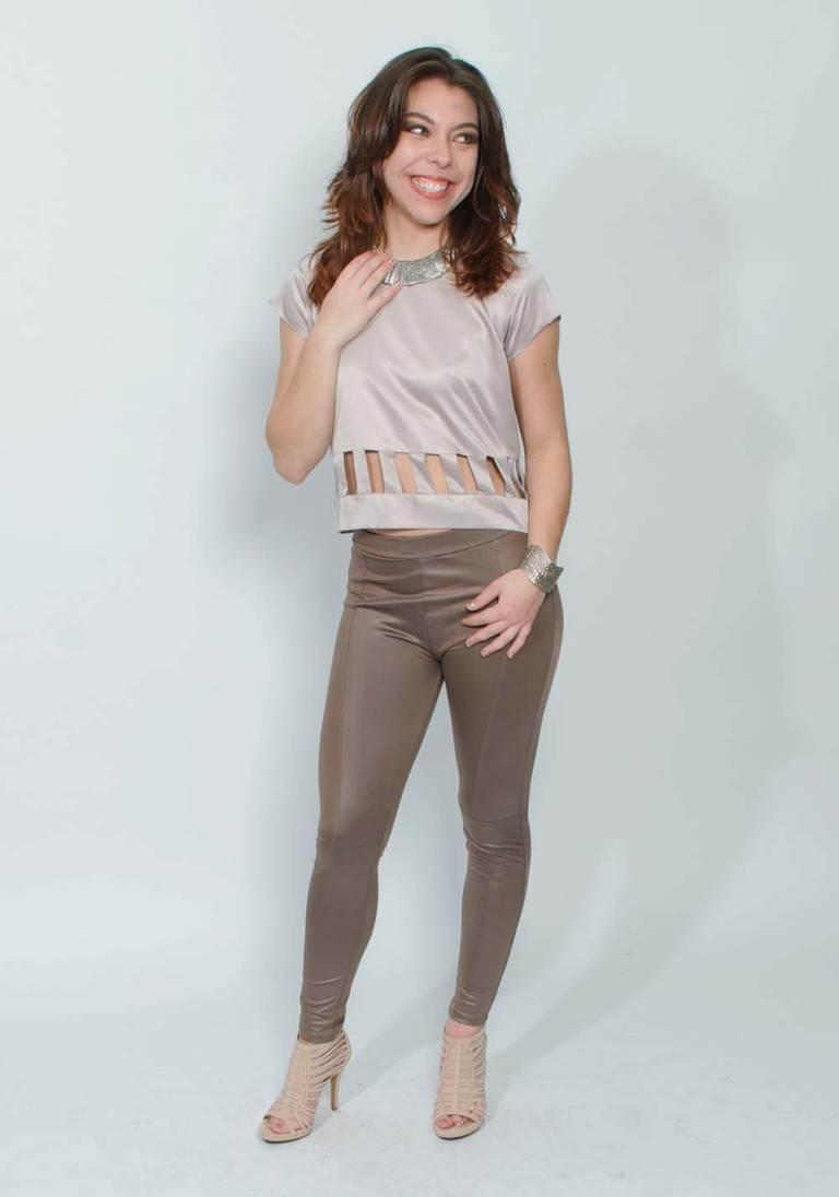 mauve trendy silk top
