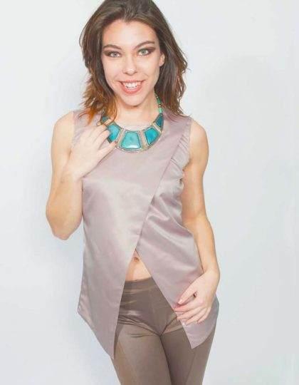 designer mauve wrap top