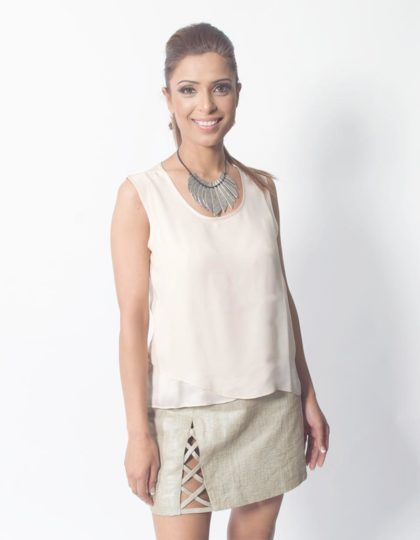 linen designer skirt