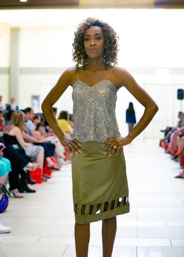 mid length silk designer skirt  bellevue seattlefashion