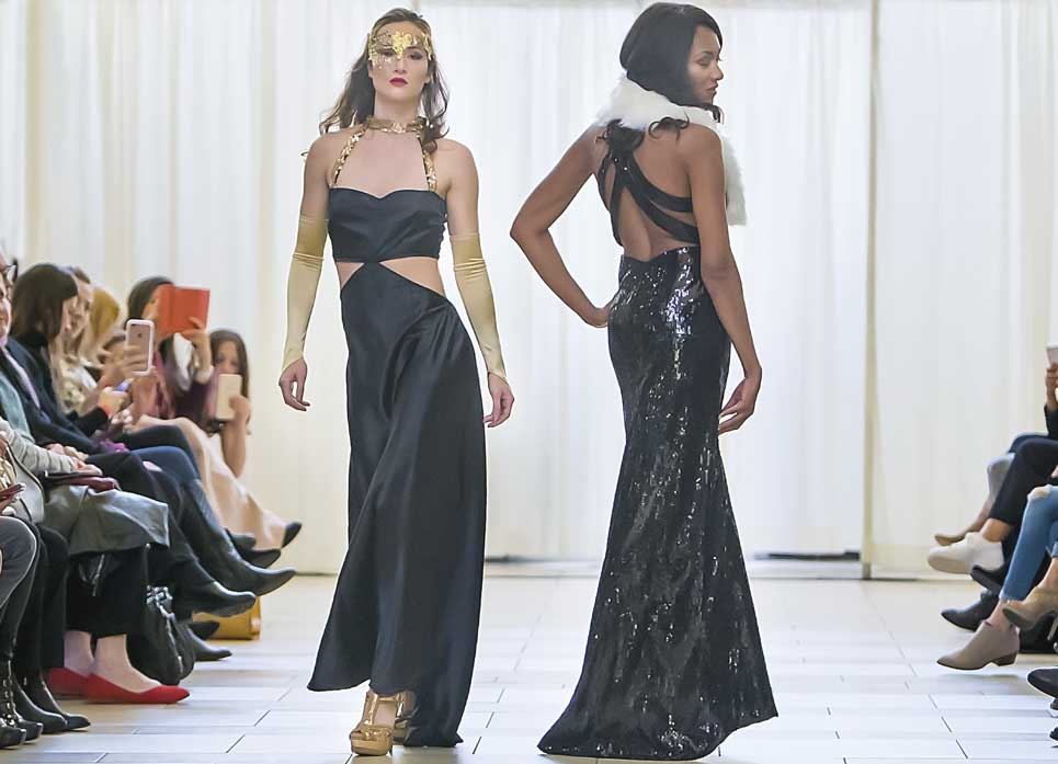 womens-designer-black-party-gown-seattle-fashion-show
