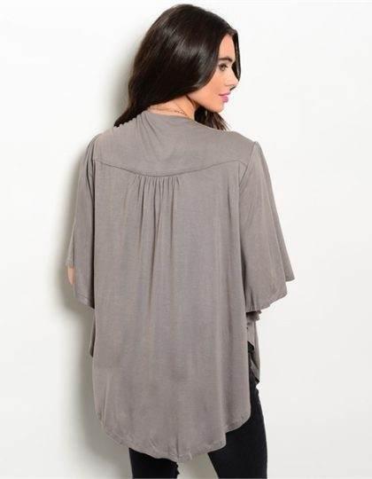 front open designer sweater