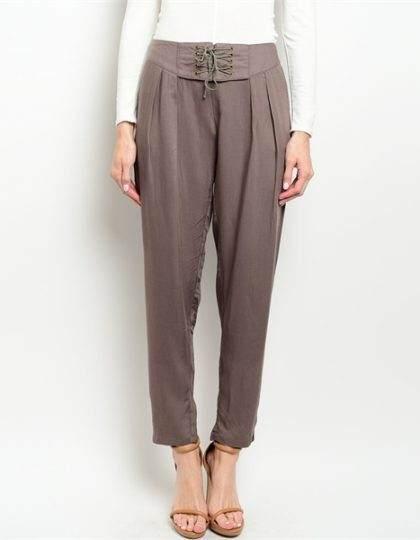 loose fit mocha brown designer fashion pant