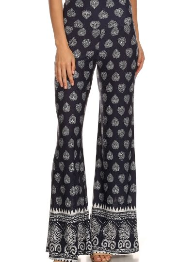 designer printed knit pants seattlefashion