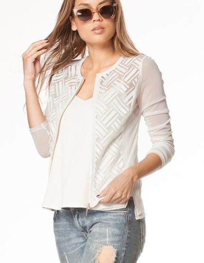 designer white jacket