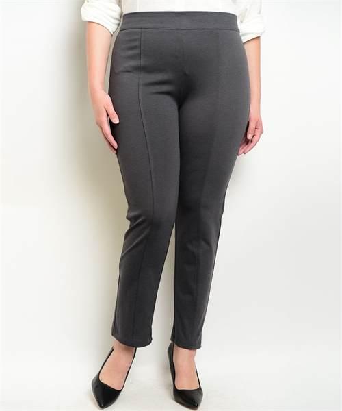charcoal grey plus size ponte pants