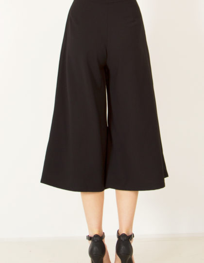 womens black culotte pant designer fashion