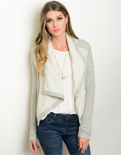 grey knit designer jacket bellevue shopping seattle fashion