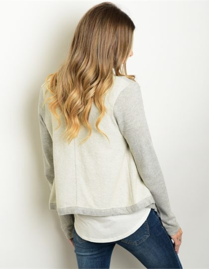grey knit designer jacket bellevue shopping seattle fashion