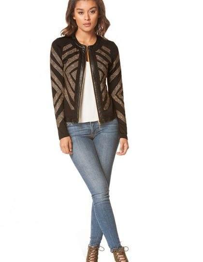womens sequin black jacket seattle fashion bellevue shopping
