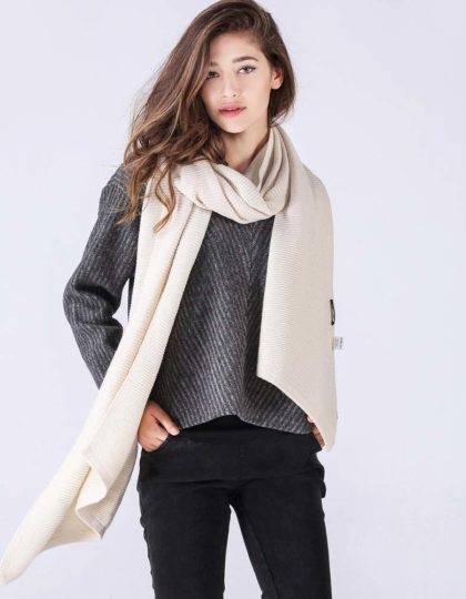 beige designer wool scarf seattle fashion bellevue online boutique