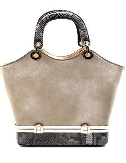 grey-designer-snale-print-purse-bag-seattle-fashion-boutique