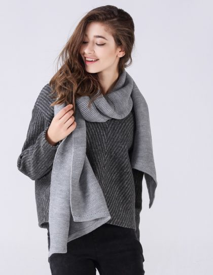 grey designer wool scarf seattle fashion bellevue online boutique