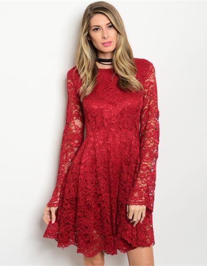 online-red-lace-designer-short-dress-seattle-fashion-bellevue-shop-boutique-back