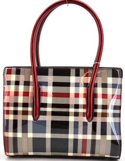 trendy women's handbag purse in checkered design