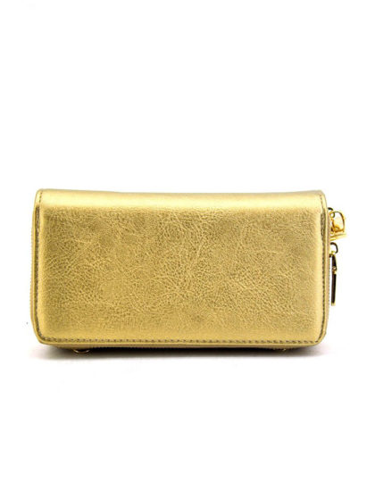 women's gold faux leather wallet seattle fashion shopping