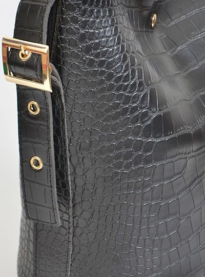 croc faux leather 2 set purse