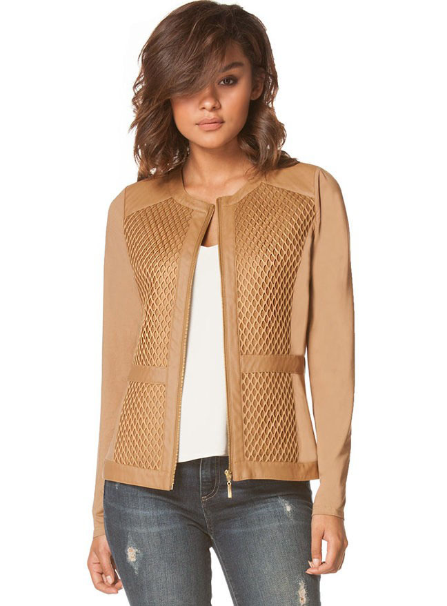Buy Designer Tan Fishnet Light Jacket For Women Online - Kahini ...