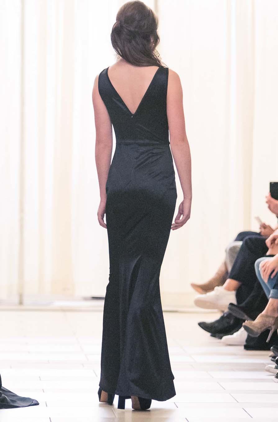 Black modern dress - Sleek Black Modern Gown