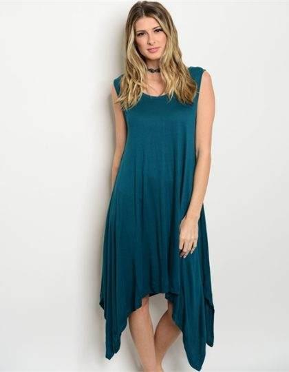 designer fashion boutique teal long dress seattle bellevue maxi green dress
