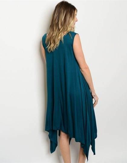 designer fashion boutique teal long dress seattle bellevue maxidress