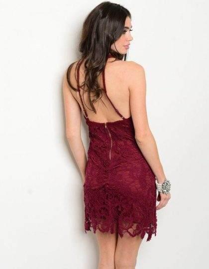 designer fashion wine burgundy crochet party dress bellevue shop