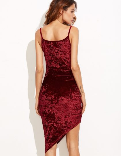 Burgundy Velvet dress party seattle fashion shopping