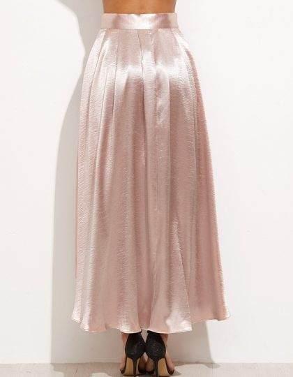 Blush pink spring fashion trend satin skirt seattle bellevue shopping