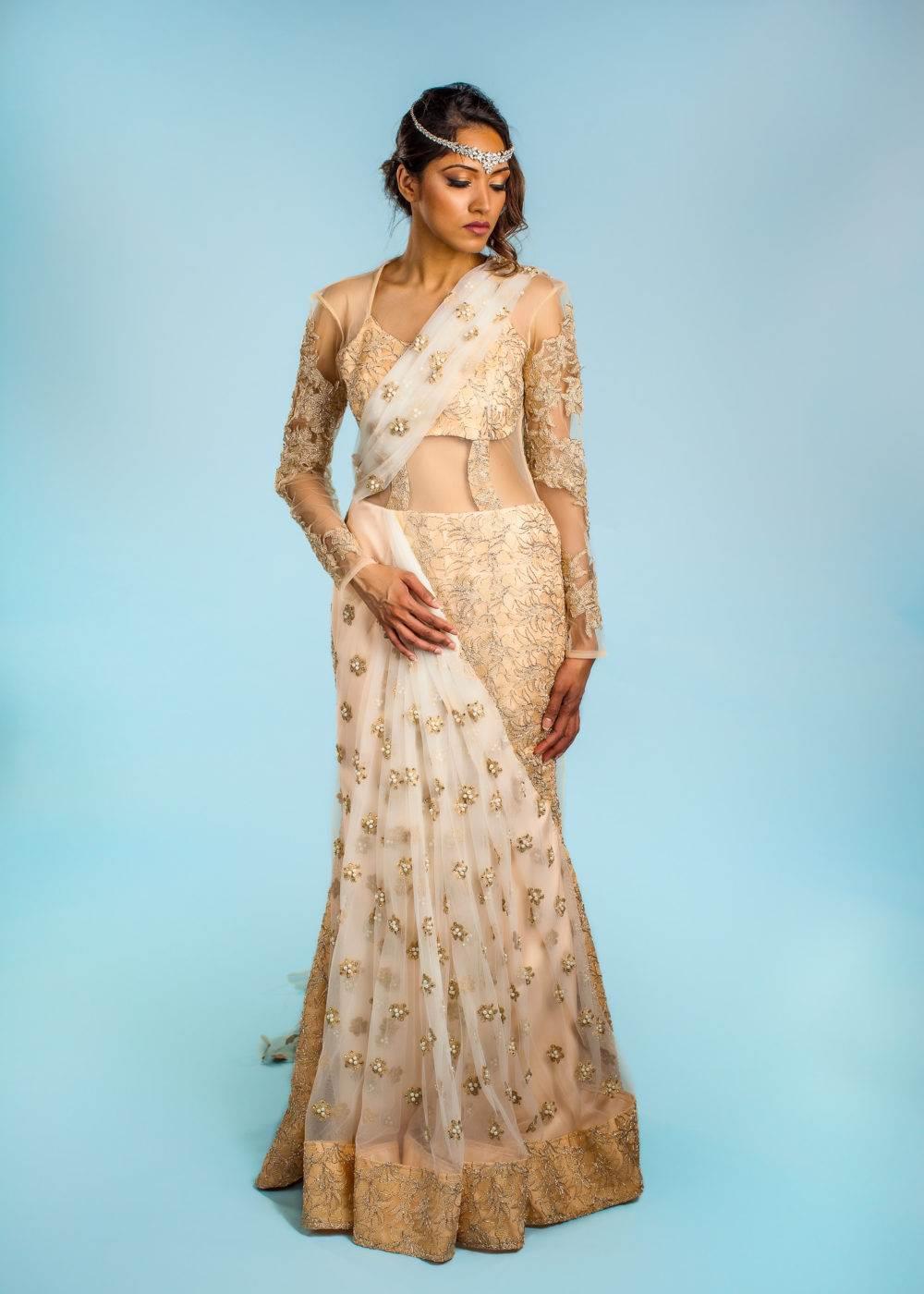 Indian wedding dress designer fashion seattle gown