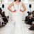 Ivory beaded modern custom wedding prom dress
