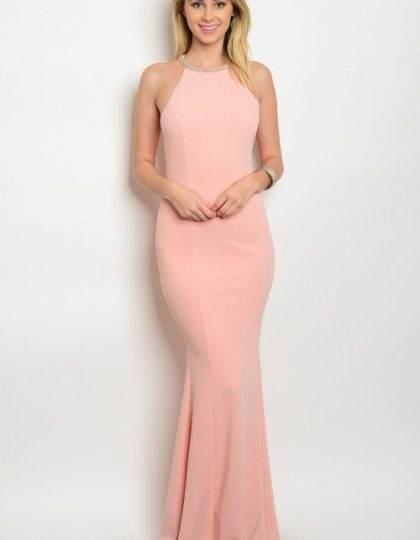 Seattle women's designer fashion Blush long prom bridesmaid dress