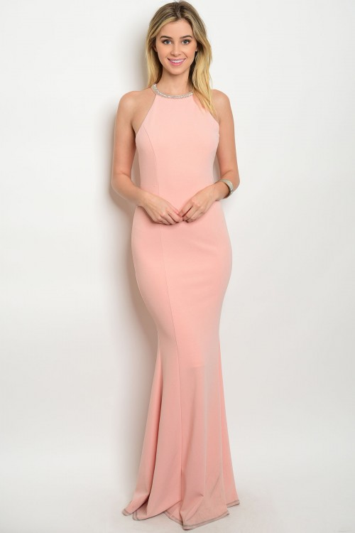 Seattle women's designer fashion Blush long prom bridesmaid dress