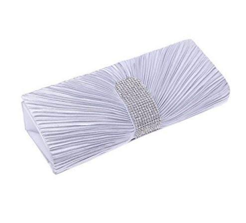 Silver rhinestone party clutch purse seattle wedding boutique