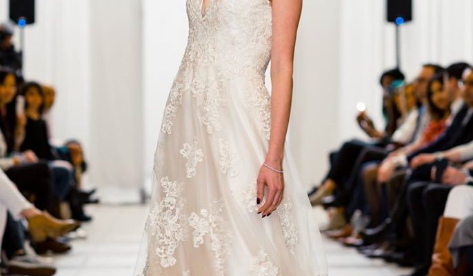 designer champagne wedding dress designer