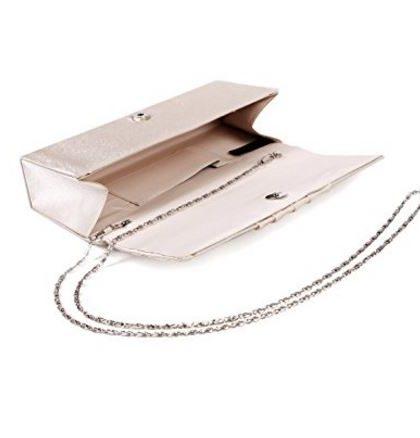 designer boutique silver wedding prom clutch purse