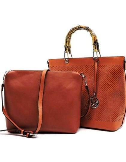 tan brown designer handbag set wedding prom boutique