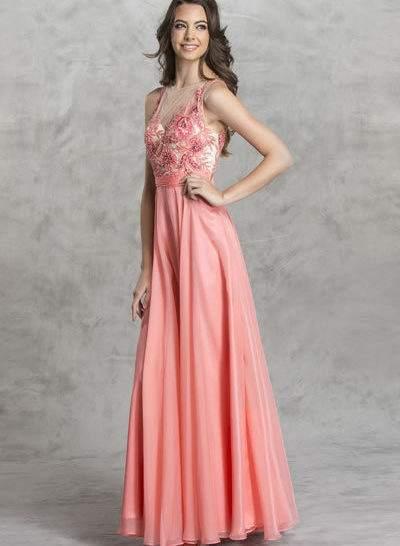 Coral Designer Beaded Prom bRIDESMAID Dress Boutique Bellevue Seattle